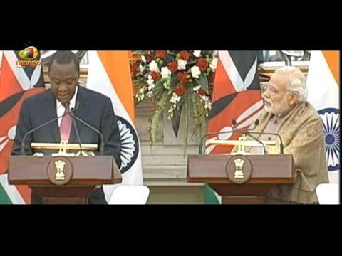 Kenya President Uhuru Kenyatta At Joint Press Statement With PM Modi | Mango News
