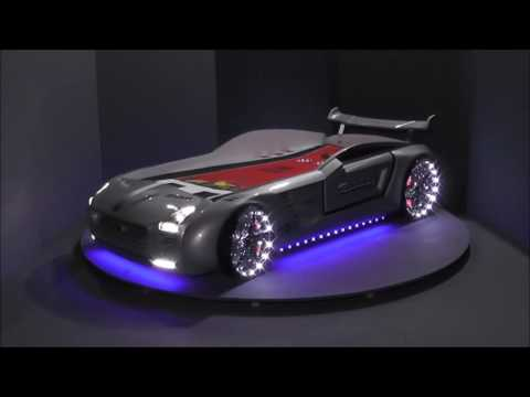 autobett roadster mit led und sound kinderbett autobetten. Black Bedroom Furniture Sets. Home Design Ideas