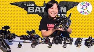 5 BATMOBILES - SCUTTLER - BATCYCLE - LEGO BATMAN MOVIE & SUPER HEROES Play Sets Review