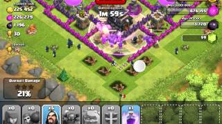 Clash of Clans: My first GoWiPe attack and it actually was succesful