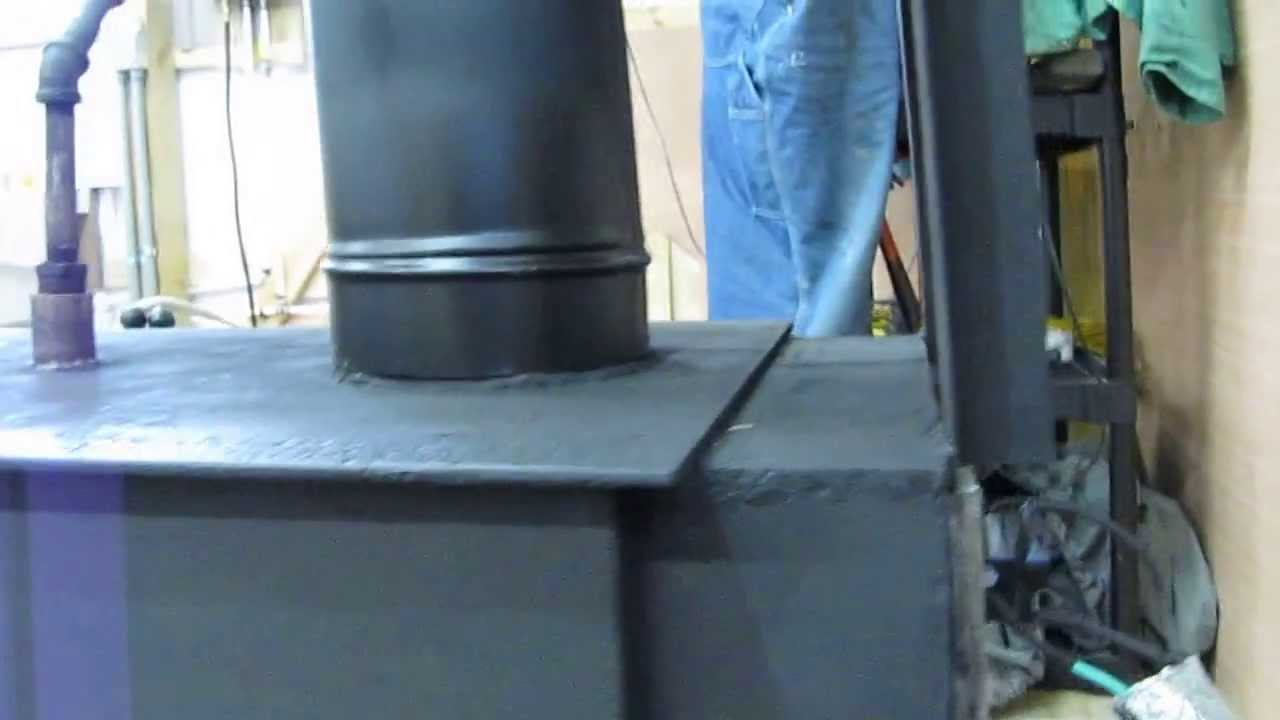 small resolution of wood stove waste oil stove blower thermostat install update by kvusmc youtube