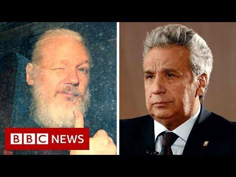 'Assange smeared faeces in Ecuador embassy,' says president - BBC News