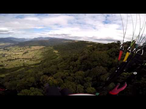 Paragliding at Beechmont, Queensland, Australia, 20150809