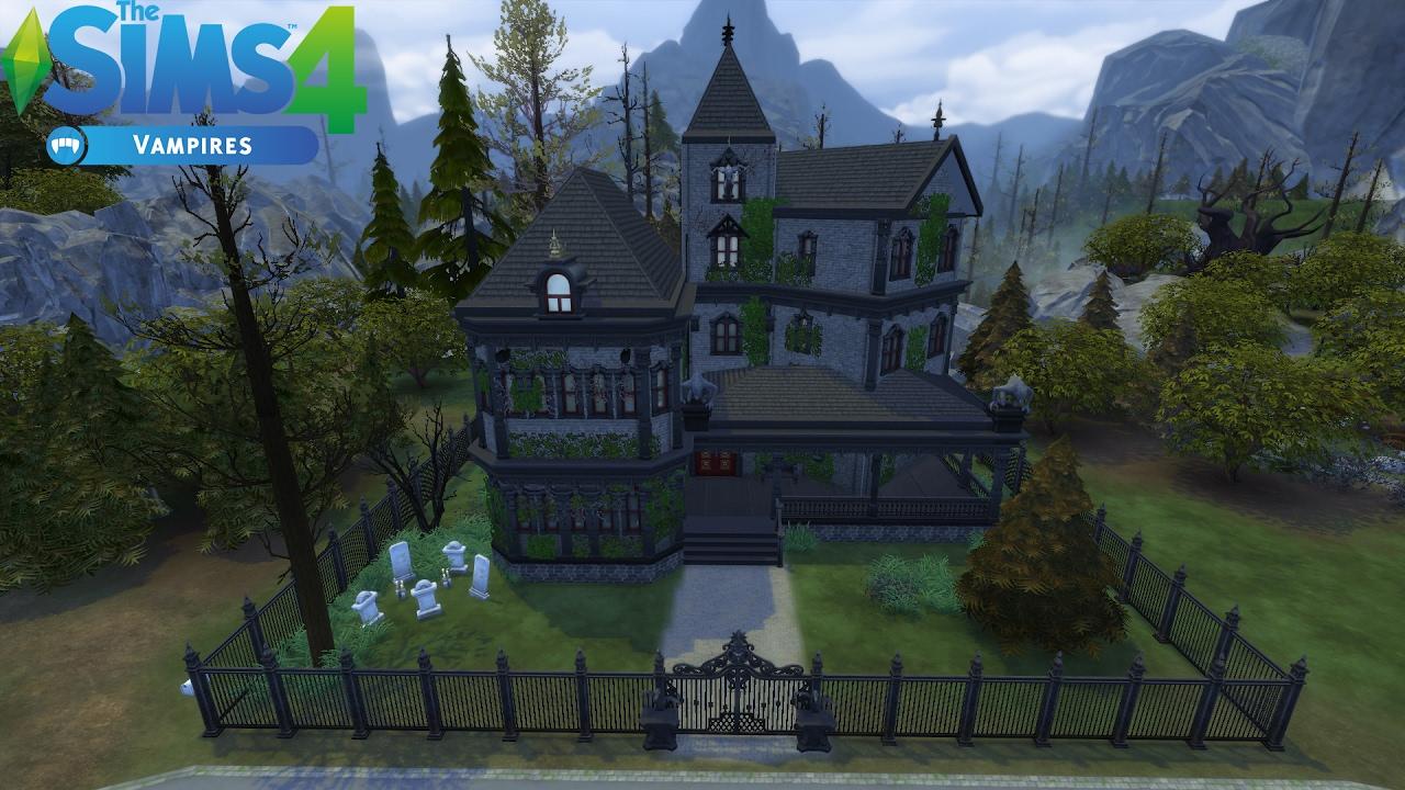 Les Sims 4 Maison De Vampire Sans Cc Construction Speed Build