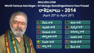 Rasi Phalalu April 20th - 26th 2014