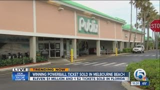 Winning Powerball ticket sold in Melbourne Beach