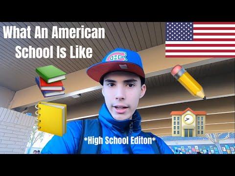 What An American School Is Like🇺🇸📚✏️