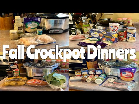 What's for Dinner| Easy & Budget Friendly Crockpot Recipes| Perfect for Fall 🍁
