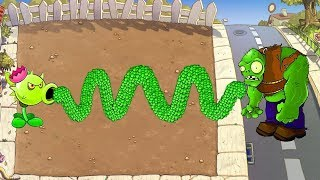 Plants vs Zombies Hack - 1 Peashooter vs Gargantuar vs All Zombies