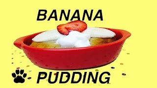 Banana Dog Pudding-mug Cake Desert-for Jenna Marbles Dogs By Cookingfordogs