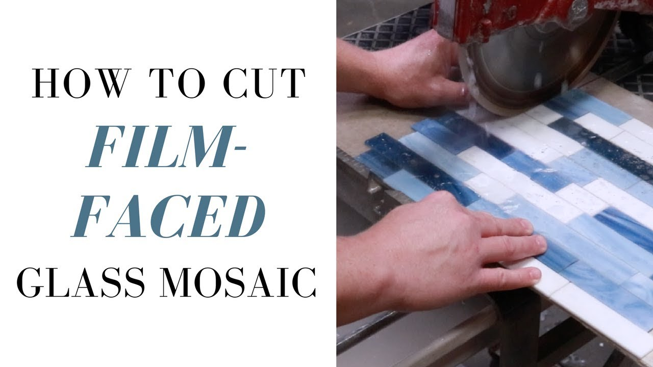 How To Cut Film Face Mounted Gl Mosaic Tile