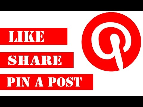 How To Like, Share & Pin Post In Pinterest
