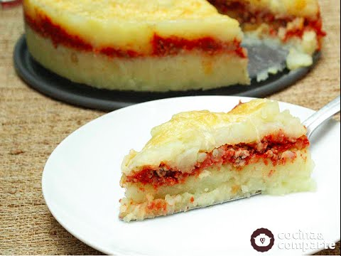 receta pastel de papas con carne molida