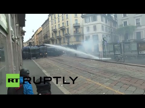 Italy: Police unleash water cannons on anti-Expo Milano protesters