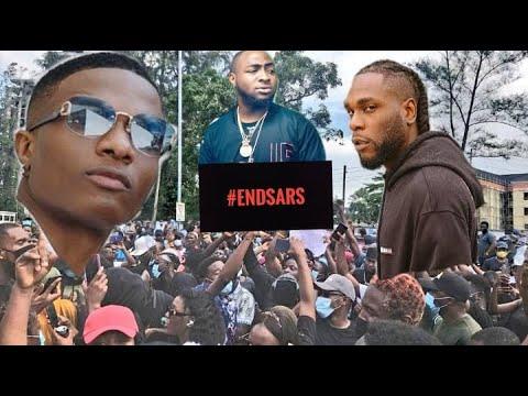 Wizkid And Burna Boy EndSARS Protest in London X Davido & Bobrisky