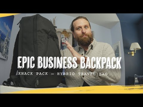 EPIC BUSINESS TRAVEL BACKPACK: Knack Bags