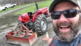 FARM FUN! SETUP/USE BOX SCRAPE BLADE FOR PROPER DRIVEWAY CARE/CROWNING/MAINTENANCE AND DRAINAGE thumbnail