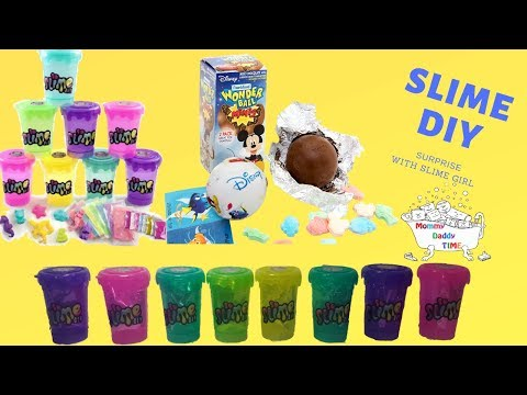 Making diy Slime  How to make slime with no glue no mess Candy surprise wonderball  Slime diy