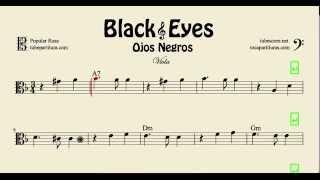 Video Ojos Negros Partitura de Viola Black Eyes download MP3, 3GP, MP4, WEBM, AVI, FLV Mei 2018