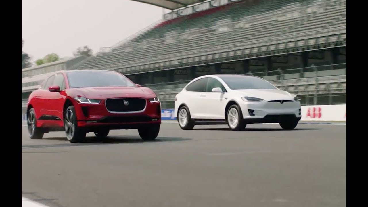 Jaguar I Pace Vs Tesla Model X 75d Drag Race