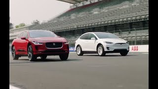 Jaguar I-Pace vs Tesla Model X 75D drag race