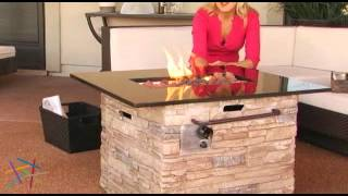 Red Ember Coronado Gas Fire Pit Table With Cover - Product Review Video