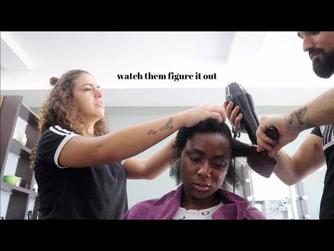 BLACK GIRL GETS HAIR DONE IN TURKEY | NATURAL HAIR SALON VISIT