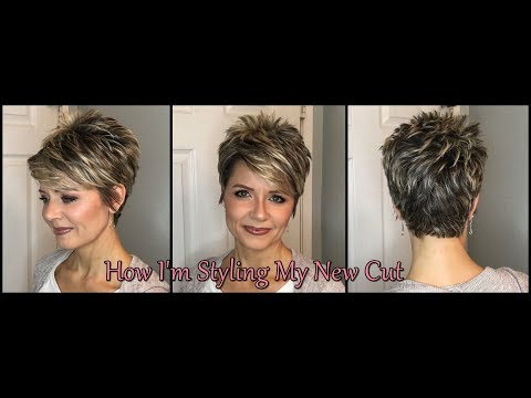 Hair Tutorial with my New Cut - Swept Bangs & Smooth Back
