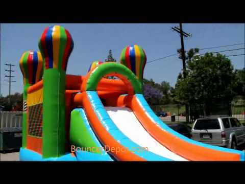 Inflatable Combo Balloon With Water Slide
