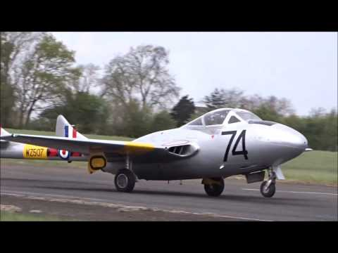 Vintage Fighter Blows Away Runway on Takeoff
