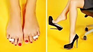 27 Простых Хитростеи с Обувью, Которые Сделают Вашу Жизнь Проще. Женские Ножки без Обуви