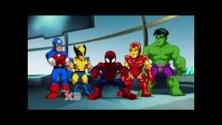Superheroes squad spiderman, Disco Spiderman & back to superheroes squad.wmv