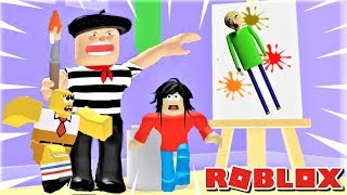ESCAPE THE EVIL ARTIST AS BALDI, PLAYTIME, &.. SpongeBob? | The Weird Side of Roblox: Art Shop Obby