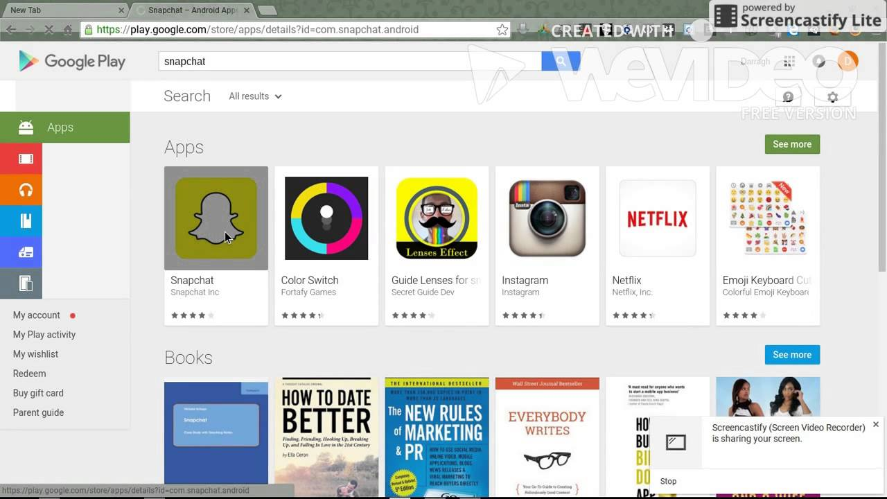 how to download snapchat on chromebook