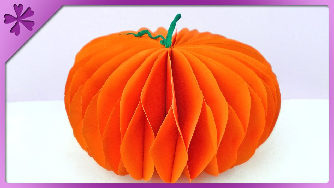 DIY Paper pumpkin (ENG Subtitles) - Speed up #144 - YouTube