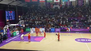 Last 1 Minute of China Versus Philippines Asian Games 2018 Jordan Clarkson vs Zhou Qi