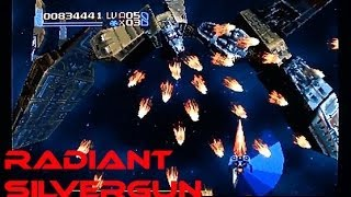 Radiant Silvergun playing on the Saturn