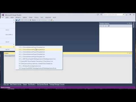 Developing Google Chrome Extensions With Visual Studio And SideWaffle