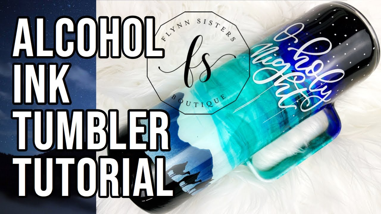 Alcohol Ink Tumbler Tutorial