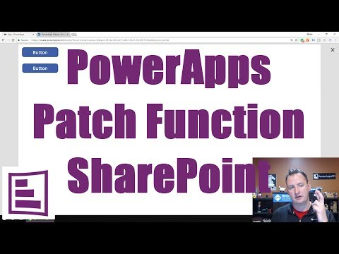 PowerApps Patch Function - YouTube