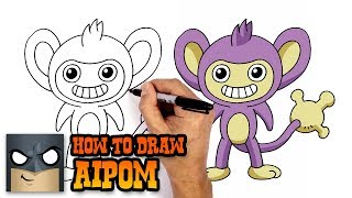 How to Draw Aipom | Pokemon (Step by Step Drawing Tutorial)