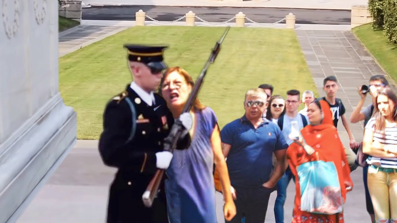 Download Karen Messes with a Guard Of Tomb Of Unknown Soldier... (BIG MISTAKE)