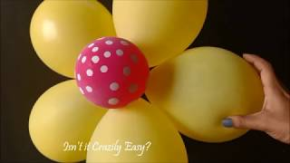 How to make a Balloon Flower with plastic  clip