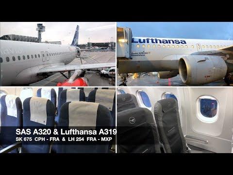 TRIP REPORT | SAS A320 & Lufthansa A319 | Copenhagen ✈ Milan MXP via Frankfurt | Economy Class