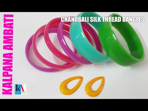Making of Latest Chandbali Silk Thread Bangles | Handmade jewelry making | kalpana ambati