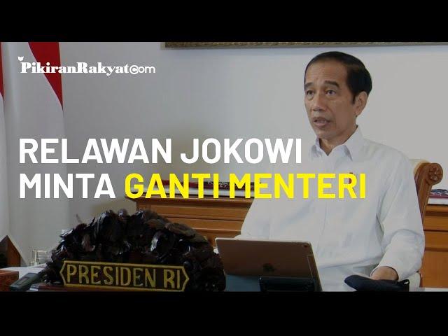 Komunikasi Politik Dinilai Lemah, Relawan Jokowi Minta Presiden Ganti Menteri
