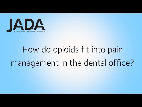 JADA: Dental Pain Management: Opioids, NSAIDs and Other Options