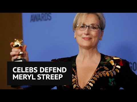 Celebrities defend Meryl Streep after Donald Trump calls her 'overrated'