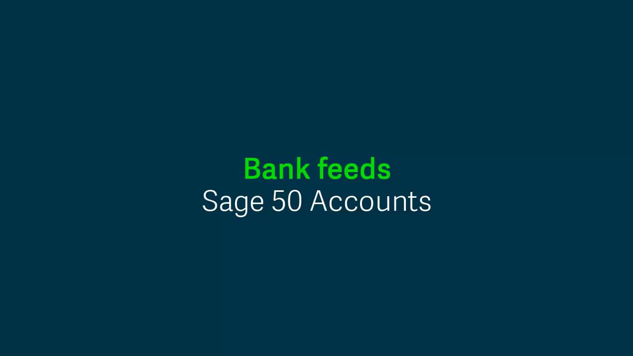 Sage 50cloud Accounts (UK) - Bank feeds