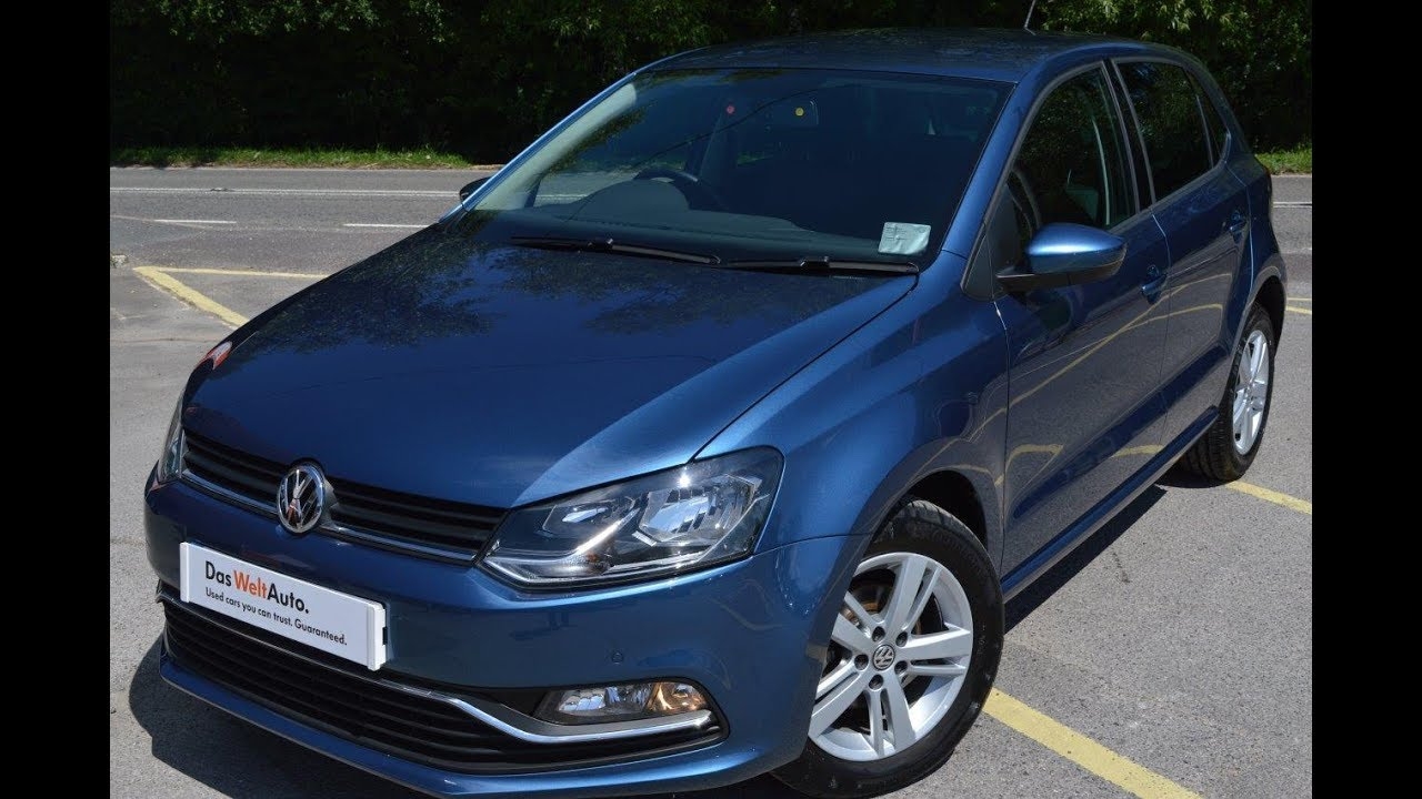 2016 vw polo 1 2 tsi match 90ps 5dr dsg auto blue silk metallic for sale petersfield youtube. Black Bedroom Furniture Sets. Home Design Ideas